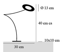 dimensions lampe giulietta