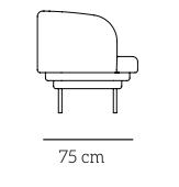 Plan Cornice fauteuil profil