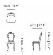 dimensions chair smoke moooi