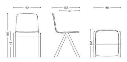 dimension chaise copenhague