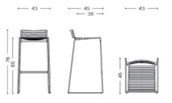 dimensions hee bar stool petit