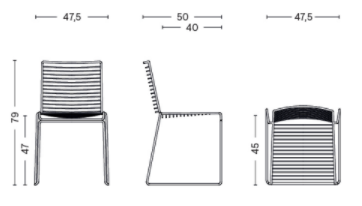 dimensions chair hee dining