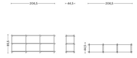 dimensions woody bas