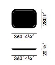 dimensions classic tray vitra