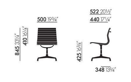 aluminium chaise dimensions