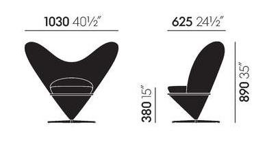 dimensions heart cone
