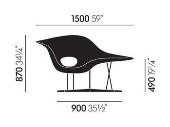 dimensions la chaise vitra