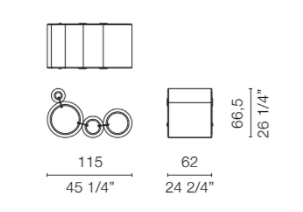 dimensions tube chair