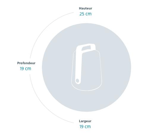 dimensions balad 25cm