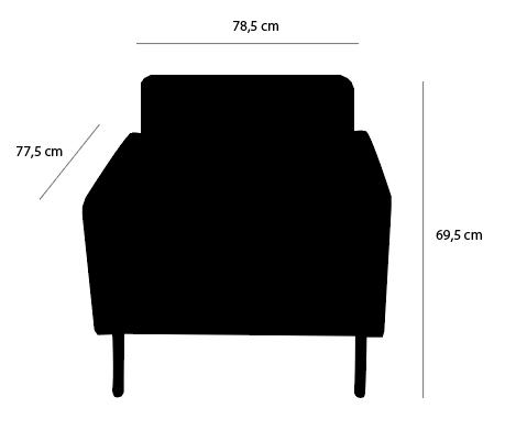 Dimensions edmond fauteuil