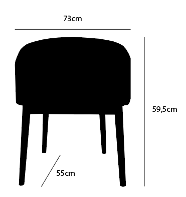Dimensions round chair