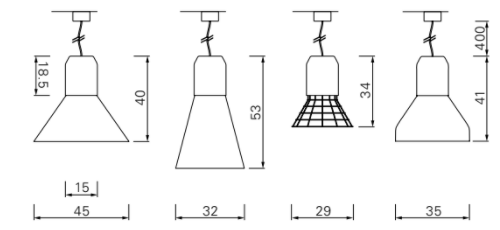 Dimensions Bell light