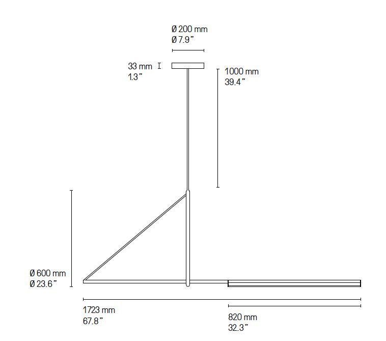 Plan lampe Cercle et Trait