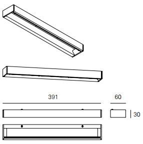 Dimensions applique MLN GIL de Milan Iluminacion