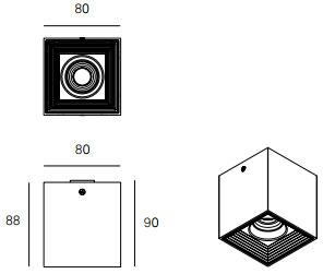 Dimensions plafonnier MLN DAU-LED de Milan Iluminacion