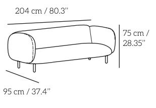 Plan moira sofa