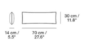 schema coussin 70 X 30 cm