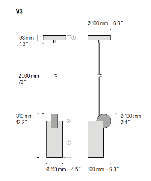 Calé(e) plan lampe V3