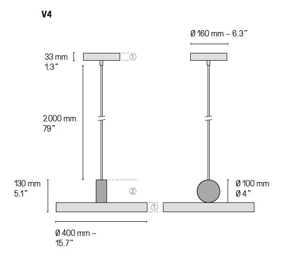 Calé(e) plan lampe V4