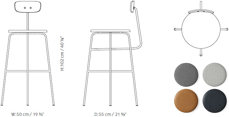 Afteroom Bar Chair Menu