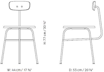 Dimensions Afteroom Dining Chair 3 de Menu