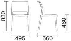Chaise Ara 310 de Pedrali