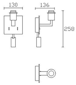 Dimensions applique Bali de Leds-C4