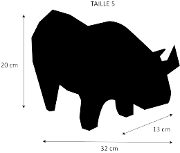 dimensions bison low poly taille S artypopart