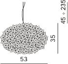 Dimensions Bloom S1 Kartell