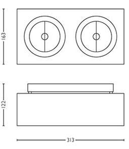 Dimensions spot Bloq 2 de Lirio by Philips