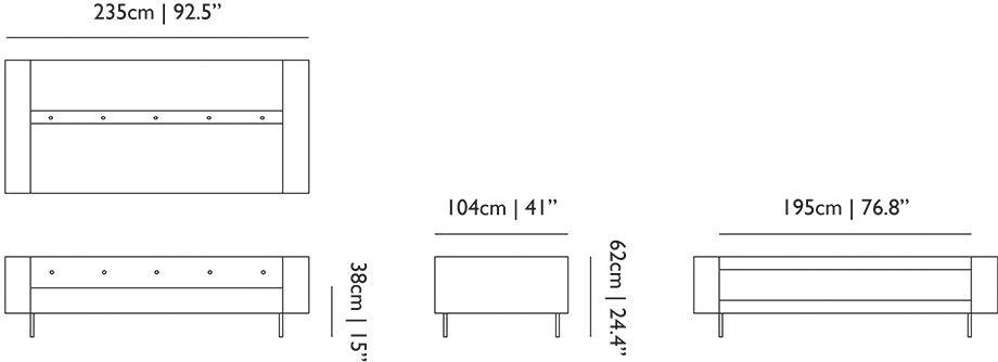bottoni dimensions