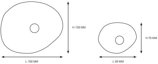 Dimensions patères Bubble de Petite Friture