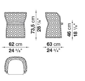 schema canasta chaise