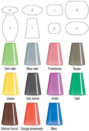 Formes et coloris des abat-jours pour suspension Candyofnie de Fatboy