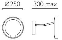 Dimensions miroir grossissant Catena de Astro Lighting