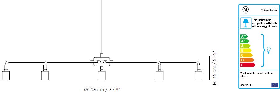 Dimensions chandelier Chambers Menu