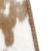 Chêne laqué/ Cuir de vache marron/blanc