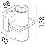 Dimensions applique Column de Altalum
