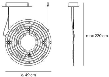 Dimensions Copernico 500 Artemide