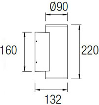 Dimensions applique Cosmos 05-97-9034 de Leds-C4