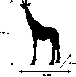 dimensiosn girafon artypopart