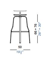 dimensions giro tabouret lapalma