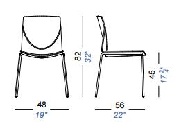 dimensions kai lot de 2 lapalma