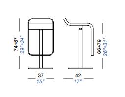 dimensions lem laque tissus lapalma