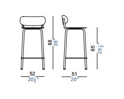 dimensions stil tabouret lapalma