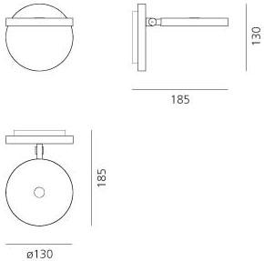 Dimensions Demetra Faretto Artemide