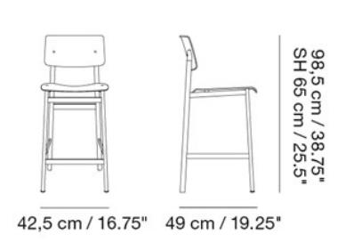 dimensions barstool