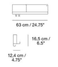 dimensions medium folded shelves