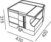 Dimensions Boby B12 B-line