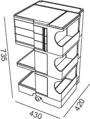 Dimensions Boby B33 B-line